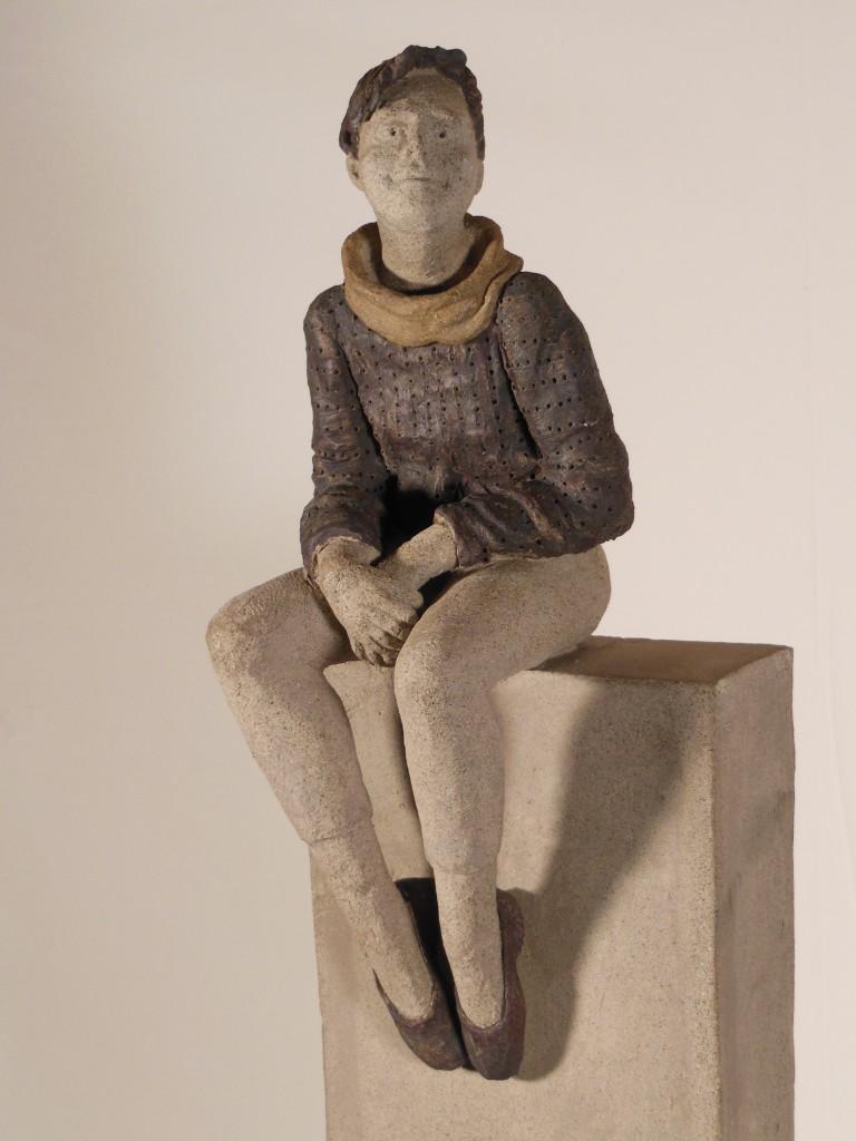 Sculpture en terre cuite et jus d'oxydes