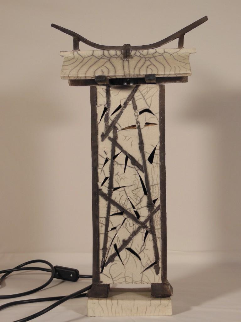 Lampe style japonais en raku