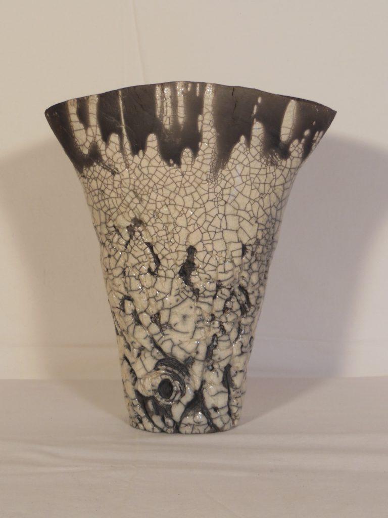 Vase en raku