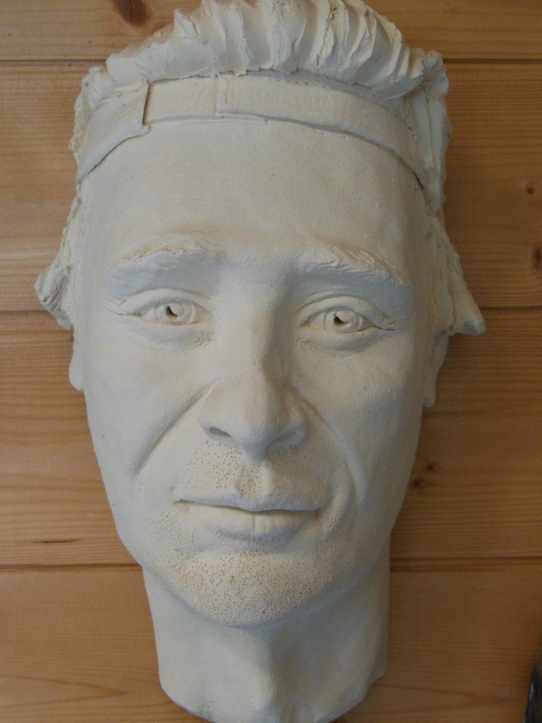 masque terre cuite jeune homme au turban